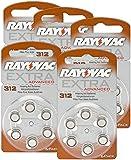 Rayovac Extra Advanced Hearing Aid Batteries 3121,45V 180mAh, 5x Pack of 6