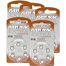 Rayovac pilas de pilas 312extra Advanced 1,45V 180mAh, 5x 6Pack de ahorro