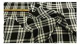 Fabrics-City SCHWARZ/WEIß ORIGINAL SCHOTTENKARO STOFF