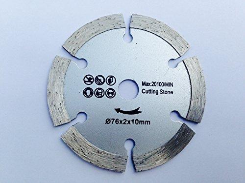 Diamant Trennscheibe Beton Fließen passend für BOSCH GWS 10,8 12 12V 76 V-EC Professional Winkelschleifer Stein Diamanttrennscheibe