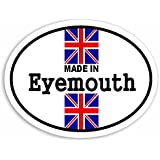 Made In Eyemouth - Union Jack British Flag Coche Pegatina / Sticker For Car Bike Van Camper Decal Bumper Sign