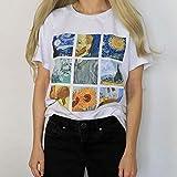 VICOLDER Drôle Femmes Tshirt Tee Vogue Été Hauts Vêtements pour Femmes Van Gogh...