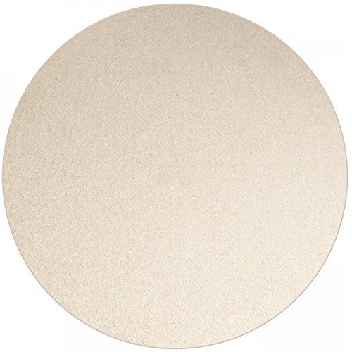 Shaggy Teppich Eco rund - Farbe wählbar   schadstoffgeprüft pflegeleicht schmutzresistent robust strapazierfähig Wohnzimmer Kinderzimmer Schlafzimmer Küche Flur, Farbe:Creme, Größe:100 cm rund -