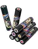 Hairspray Glitter Haar-Spray verschiedene Farben Glitzer Haar und Haut (Rot)