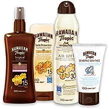 Hawaiian Tropic Pack - Kit de Protección Solar y Cuidado de la Piel