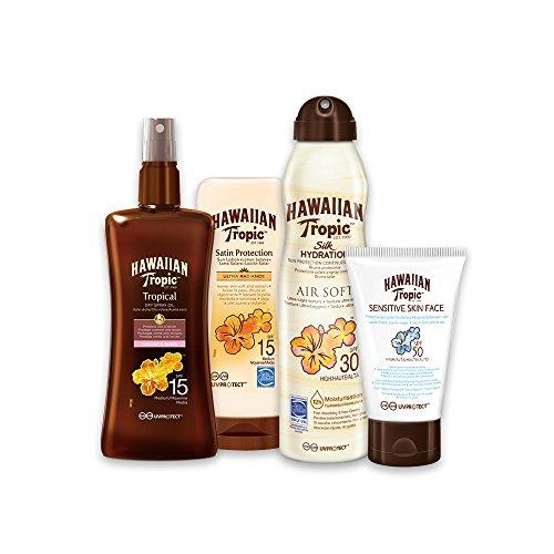 Hawaiian Tropic PACK Media Protección - Kit con Aceite Seco...