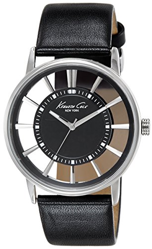 Kenneth Cole Unisex Analogue Watch with Black Dial Analogue Display - KC1793
