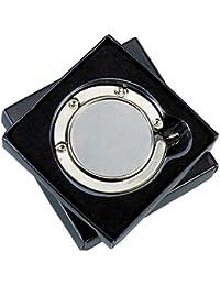 2X WPRO Handtaschenhalter Nicola Metall | Etui | Handtasche | Tisch - Geschenkbox & Gravur - Damen Faltbar