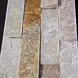 Brickstones, Mauerverblender, Wandverblender, 10x40cm, Schiefer/Quarzit beige bunt, 1 Kart.= 0,432 qm, MOES51
