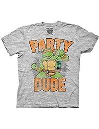 Teenage Mutant Ninja Turtles Tmnt Party Dude Gray T-Shirt Tee