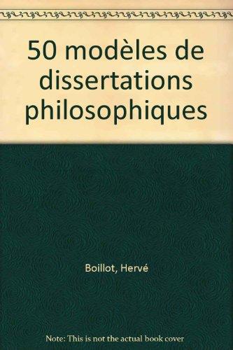 50 modles de dissertations philosophiques