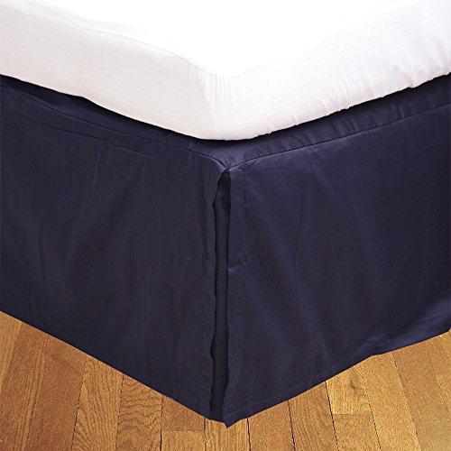 1pc Ägyptische Baumwolle 300Fäden Bedskirt 53,3cm Länge von Tropfen UK King Nevy Blau Uni 100% Baumwolle 300TC (21-zoll-king Bedskirt)