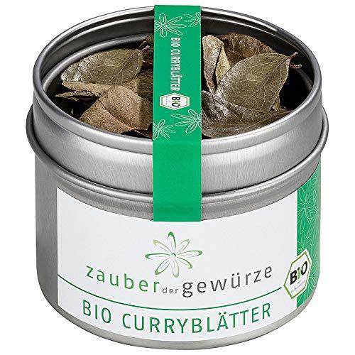 Zauber der Gewürze Bio Curryblätter, ideal zum Würzen von Currygerichten und Chutneys, 3g
