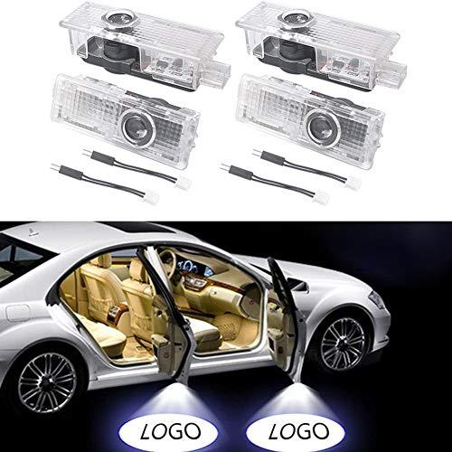 4 Stücke Auto Tür Led-beleuchtung Eintrag Projektor Courtesy Willkommen Lampe Schatten Logo Licht einfach zu installieren (4 PCS)