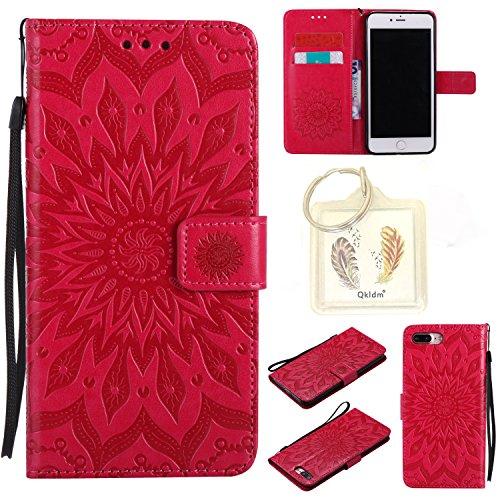 """für Iphone 7 Plus (5,5"""") Geprägte Muster Handy PU Leder Silikon Schutzhülle Handy case Book Style Portemonnaie Design für Apple Iphone7 Plus (5,5"""") + Schlüsselanhänger(2W) (6)"""