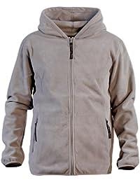 Veste en polaire à capuche taille L coloris gris