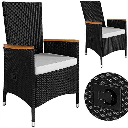 PolyRattan Sitzgruppe 8+1 neigbaren Rückenlehnen Tisch aus Akazienholz Gartenmöbel Gartenset Sitzgarnitur Rattan - 3