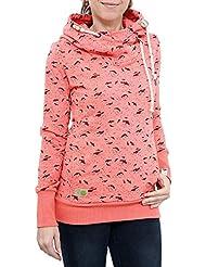 RAGWEAR Damen Pullover Sweatshirt Sweater BEAT PRINT ORGANIC 1721-30047