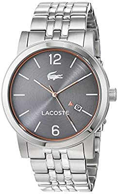 Lacoste Reloj Análogo clásico para Hombre de Cuarzo con Correa en Acero Inoxidable 2010927