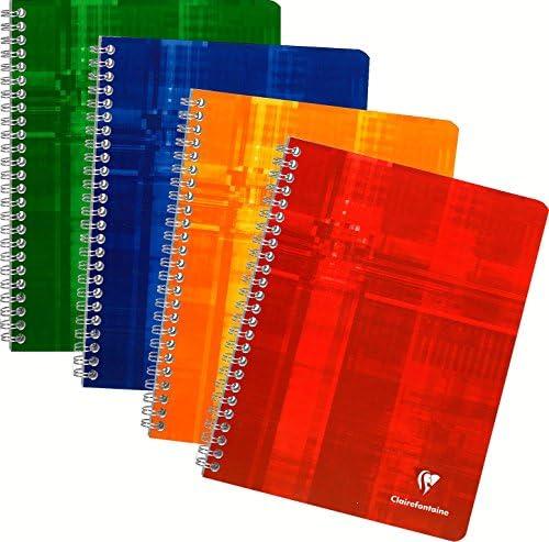 CLAIREFONTAINE CLAIREFONTAINE CLAIREFONTAINE Réf 8811C - Un cahier à spirale 17x22 cm 224 pages grands carreaux couleur aléatoire vendu à l'unité B002C2XXP8 e821ba