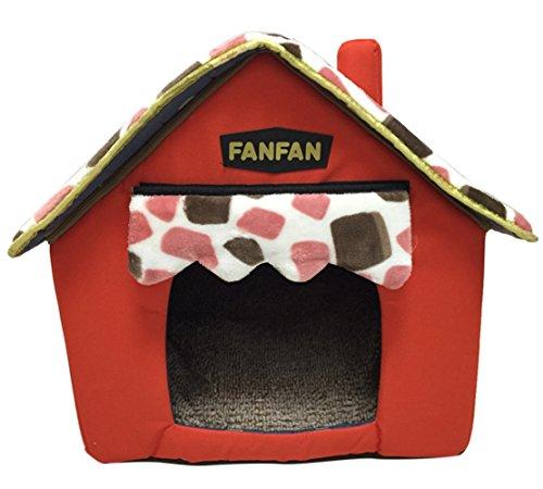 Icegrey Casa Perros Gatos Acolchada Plegable Caseta