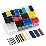 Schrumpfschlauch Set, Tabiger 580-tlg Schrumpfschläuche Sortiment Verhältnis 2:1, 16 Verschiedene Größen heat shrink tube Setzt in Aufbewahrungsbox, 6 Farben