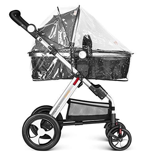 Imagen para Besrey 2 en 1 Carro Bebe Carritos Bebe con capazo Silla de Paseo Reversible Cochecito Infantil 0-3 años Ruedas Grande