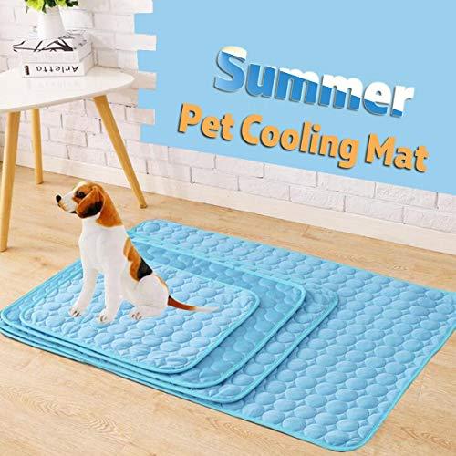PAWACA mascotas refrigeración estera cojín cama