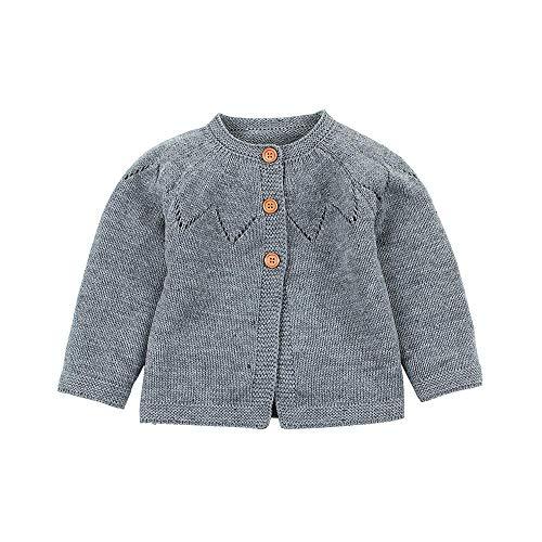 Zhen+ Baby Jungen Mädchen Cashmere Cardigan Schal Strickjacke Stricken Pullover Mantel Gestrickter Sweatshirt Bluse Tops Für Frühlings Herbst Outfits -