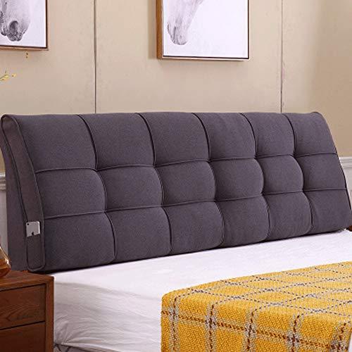LIXUE Kissen Bedside Large Kissen Doppelbett Bedling On Bett Kissen Soft Pack Bett Set Rückenlehne Kissen Massivholz Bett Kopfstütze Rückenlehne (Color : Dark Gray, Größe : 170 * 58 * 10)