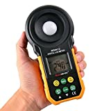 Lux Meter,VLike Digital Multi-Functional Light Meter for Photograph's illuminance Perception with LCD Screen,Measurement Range 0-200000Lux (MS6612)