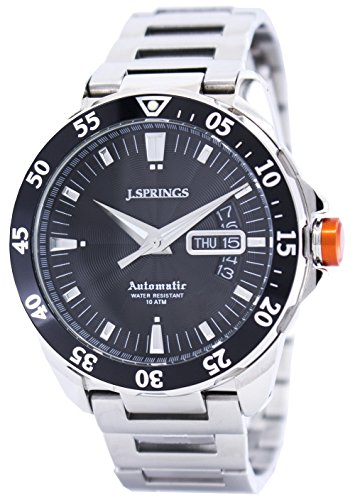 J. Springs Herren-Armbanduhr Sports Analog Automatik Edelstahl BEB063