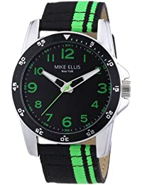 Mike Ellis New York Herren-Armbanduhr XL Analog Quarz Textil M3145