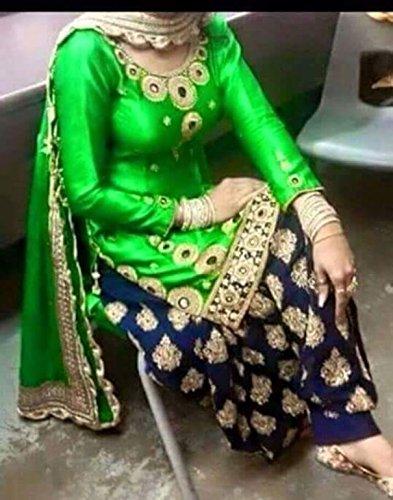 BikAw Women\'s Cotton Dress Material (RS_S.S._SF207_Green)
