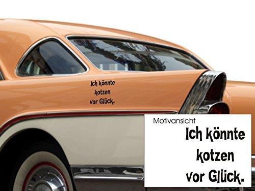 """""""Ich könnte kotzen vor Glück."""" Berliner Sprüche ,Kfz-Aufkleber, Berlin, Mundart, Berliner Mundart , Spruch, Humor"""