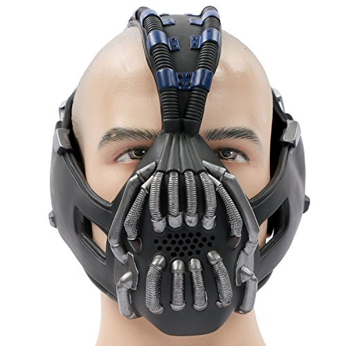 Halloween Maske Bane Cosplay Herren Erwachsene Gesicht Masken Kostüm Stütze für Fancy Dress Karneval Party 1st Version (Bane Maske Halloween Kostüme)