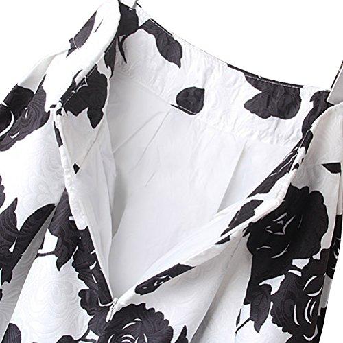 Uideazone Mode Blumenrock -Frauen mit hoher Taille und Plissee Ausgestelltes Midiröcke S-L Floral-a