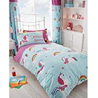 T&A Textiles and Hosiery Ltd Unicorn Clouds Single Duvet Cover and Pillowcase Set