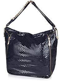 Neeshi Women's Tote Bag Snak Blue (F Z)