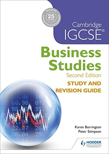 Cambridge IGCSE Business Studies Study and Revision Guide 2nd edition por Karen Borrington
