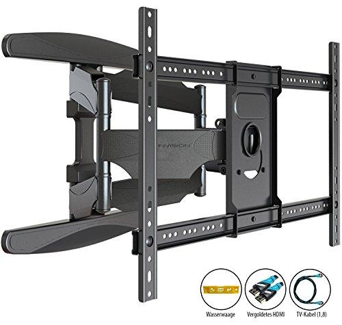 Invision® TV Wandhalterung - Ultrastarker Doppelarm - Schwenkbar Neigbar für 94 - ...