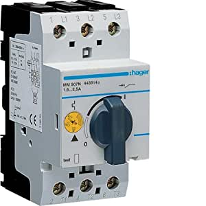 Hager mm507N–guardamotor 6kA 1,6–2,5A