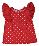 Always Kids Girls' Regular Fit T-Shirt (Maya Tee Red Dot 0Y-$P, Red, 3-4 Years)