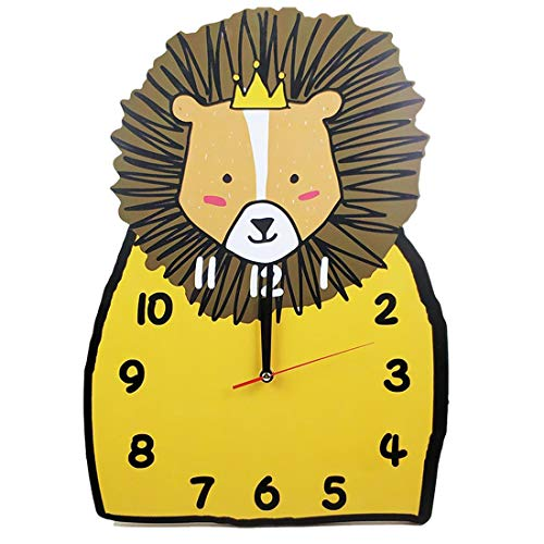 AMITAS Kinder Wanduhr Lautlos Uhr fürs Kinderzimmer Junge Mädchen 3D Dekorative 25 x 35 x 4.5cm