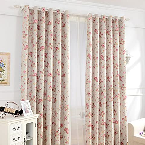 Hoomall Window Treatments Eyelet Curtains Blackout for Girls Bedroom Living