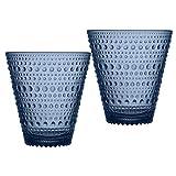 Iittala Kastehelmi, glas, regenblauw, 9 x 9 x 9,7 cm, 2 stuks