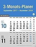 3-Monats-Planer, grau - Kalender 2018
