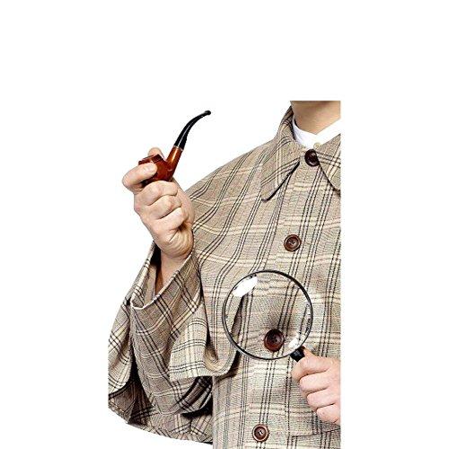 Amakando Sherlock Holmes Kostüm Kit Detektiv Set Pfeife und Lupe Detektivset London Spion Accessoires Agenten Kostüm Zubehör