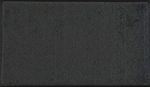 wash+dry Fußmatte Dunkelgrau 75x120 cm