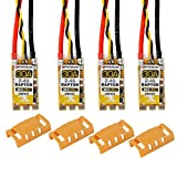 FancyWhoop 4pcs BLHeli_S 30A ESC with ESC Protective Cases,30A BLHeli S 2-4S Lipo Support Dshot 600 Electronic Speed Controller (Automatically Input Signal Detected)